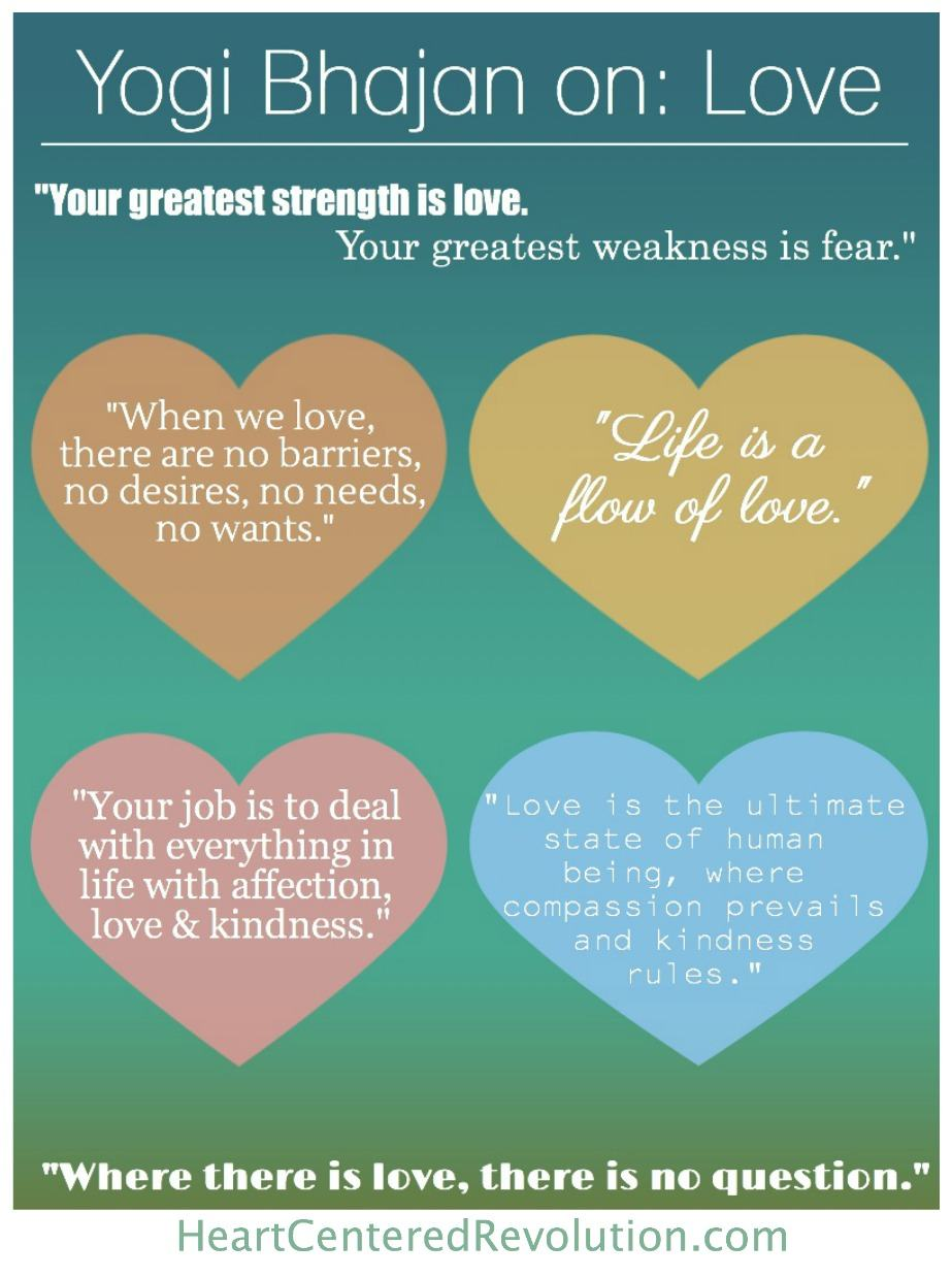 7 Rules Of Life Quote 7 Yogi Bhajan Quotes About Love Infographic